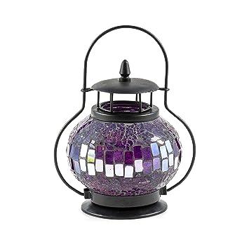 Windlicht//Kerzenhalter lavendel zum Hängen /& Stellen Laterne Teelichthalter