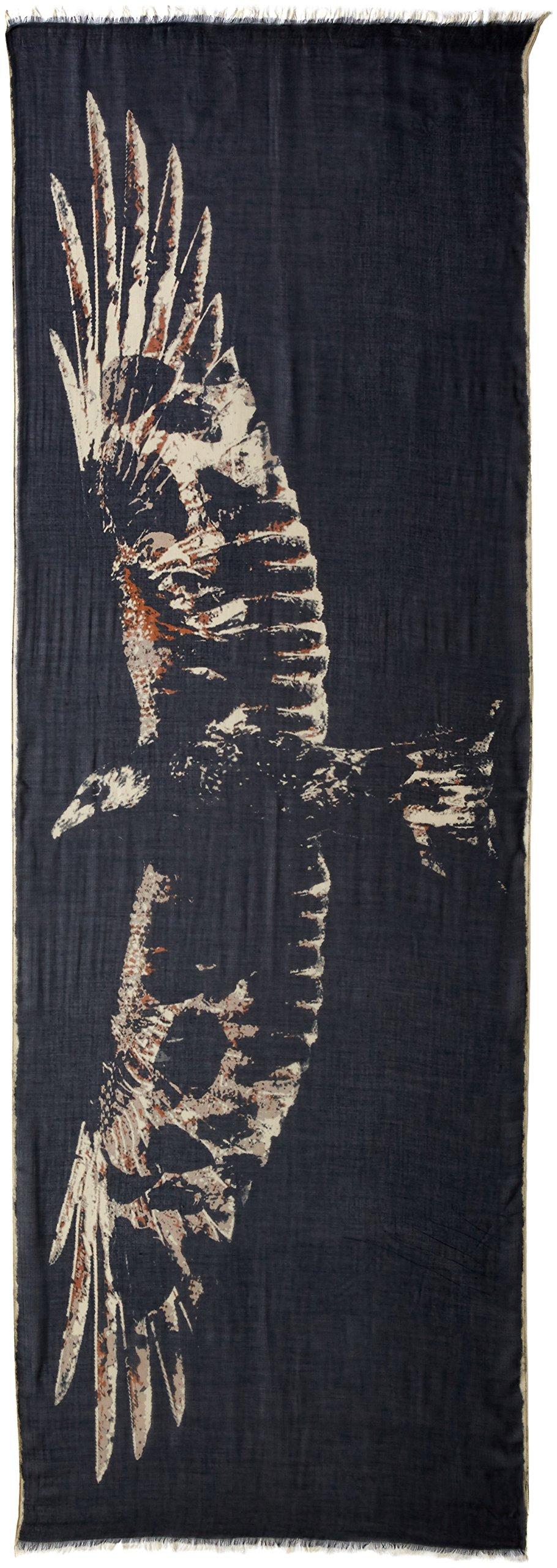 John Varvatos Star U.S.A Men's Crow Print Scarf