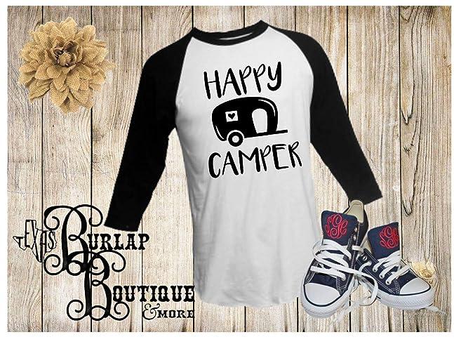 Amazon com: Handmade ~ Funny T-shirts ~ Happy Camper ~ RV