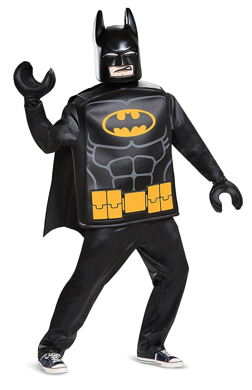 Generique - Lego-Batman Lizenzkostüm Deluxe schwarz-gelb Einheitsgröße