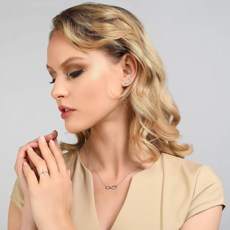 Bague Femme R/églable en plaqu/ée Or 14 carats ou couleur Argent /… Bagues Femmes NAMANA avec une Barrette Sertie de Zircons