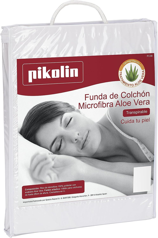 80 x 190//200 cm para Cama, Todas Las Medidas Funda de colch/ón Rizo Aloe Vera Pikolin Home FC39000PK080BLA