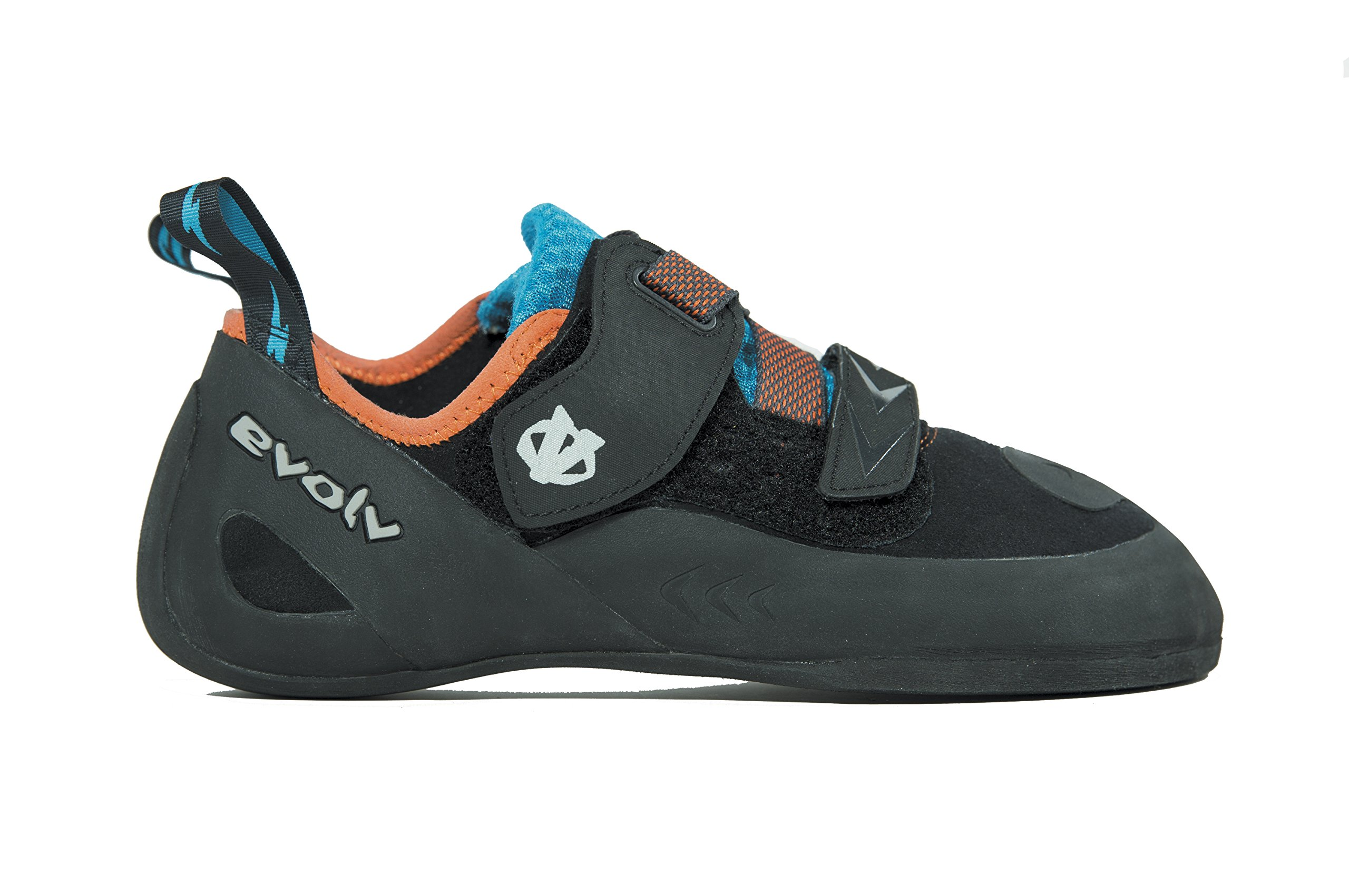 Evolv Kronos Climbing Shoe - Black/Orange 6.5