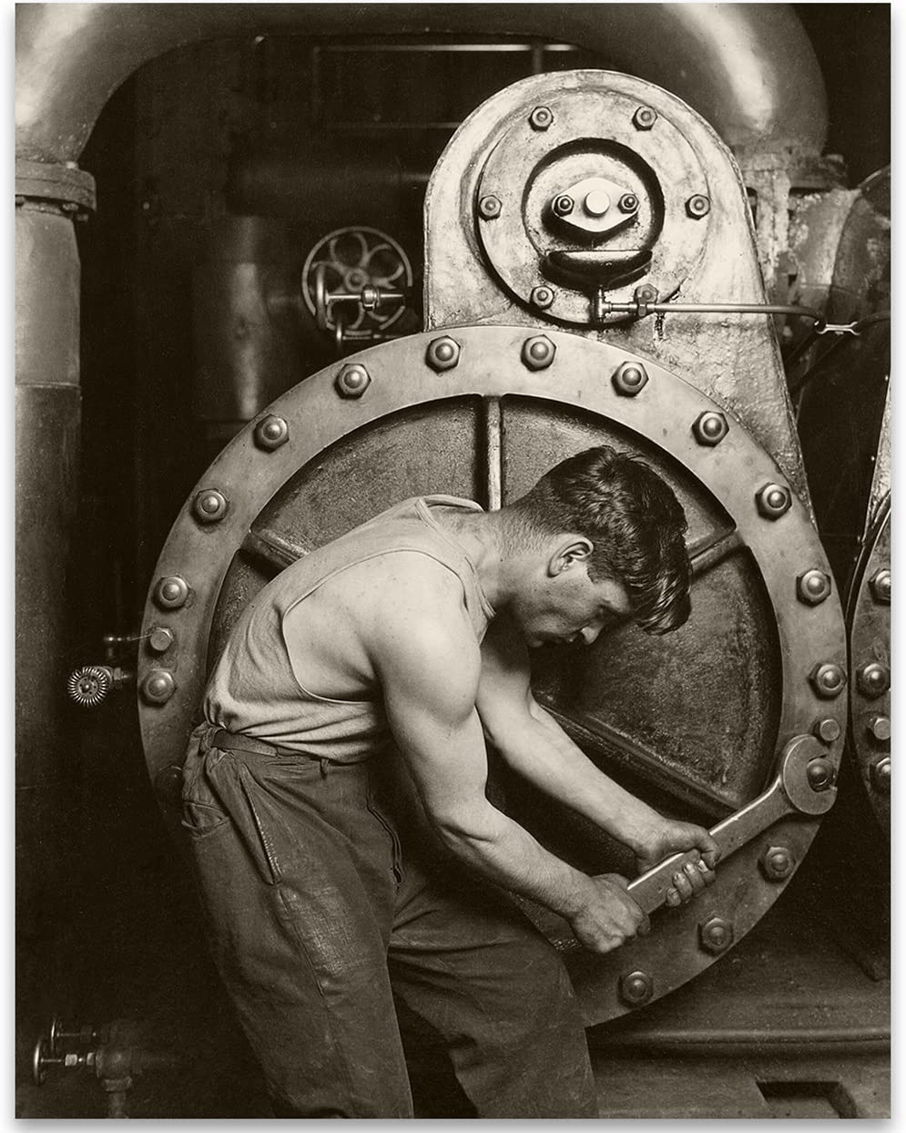 Lone Star Art Power House Mechanic by Lewis W Hine Photo - 11x14 Unframed Print - Perfect Vintage House Decor Under $15