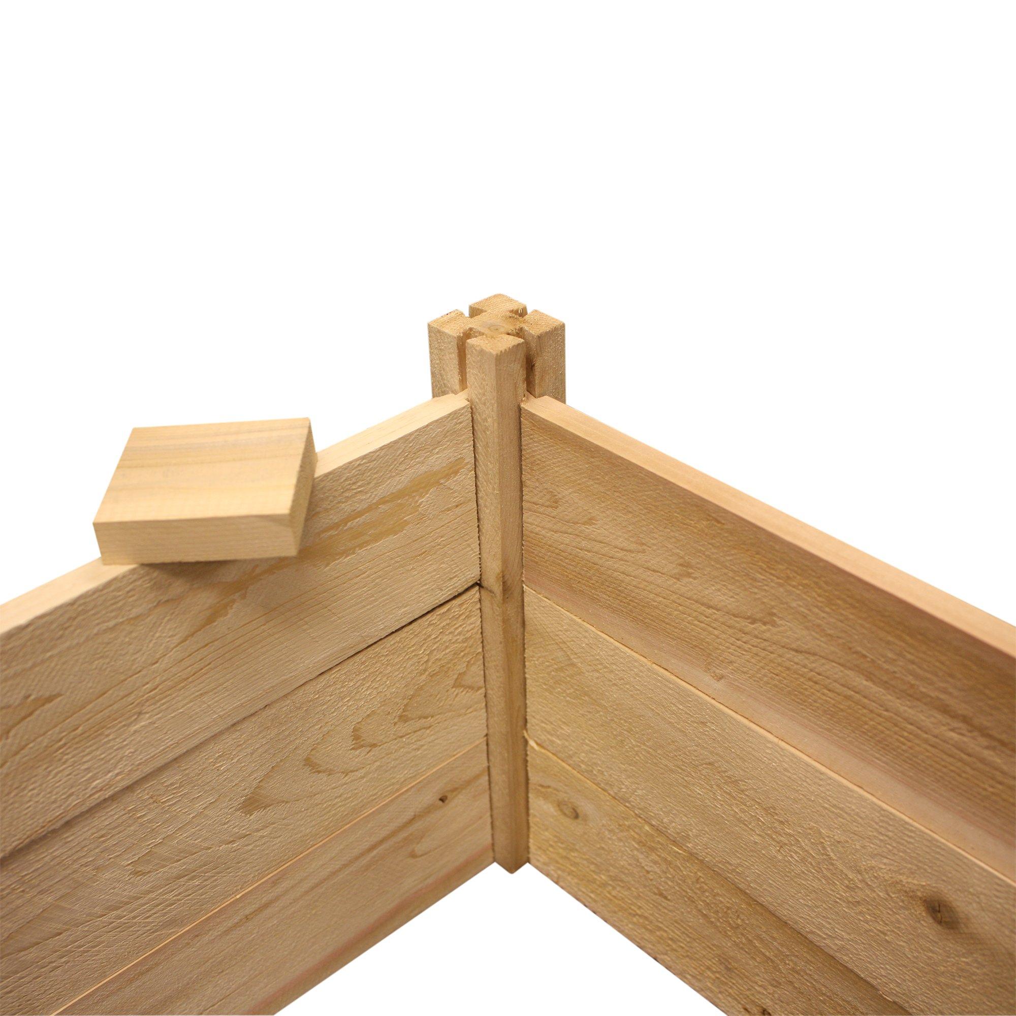Best Value Cedar Raised Garden Bed Planter 24\