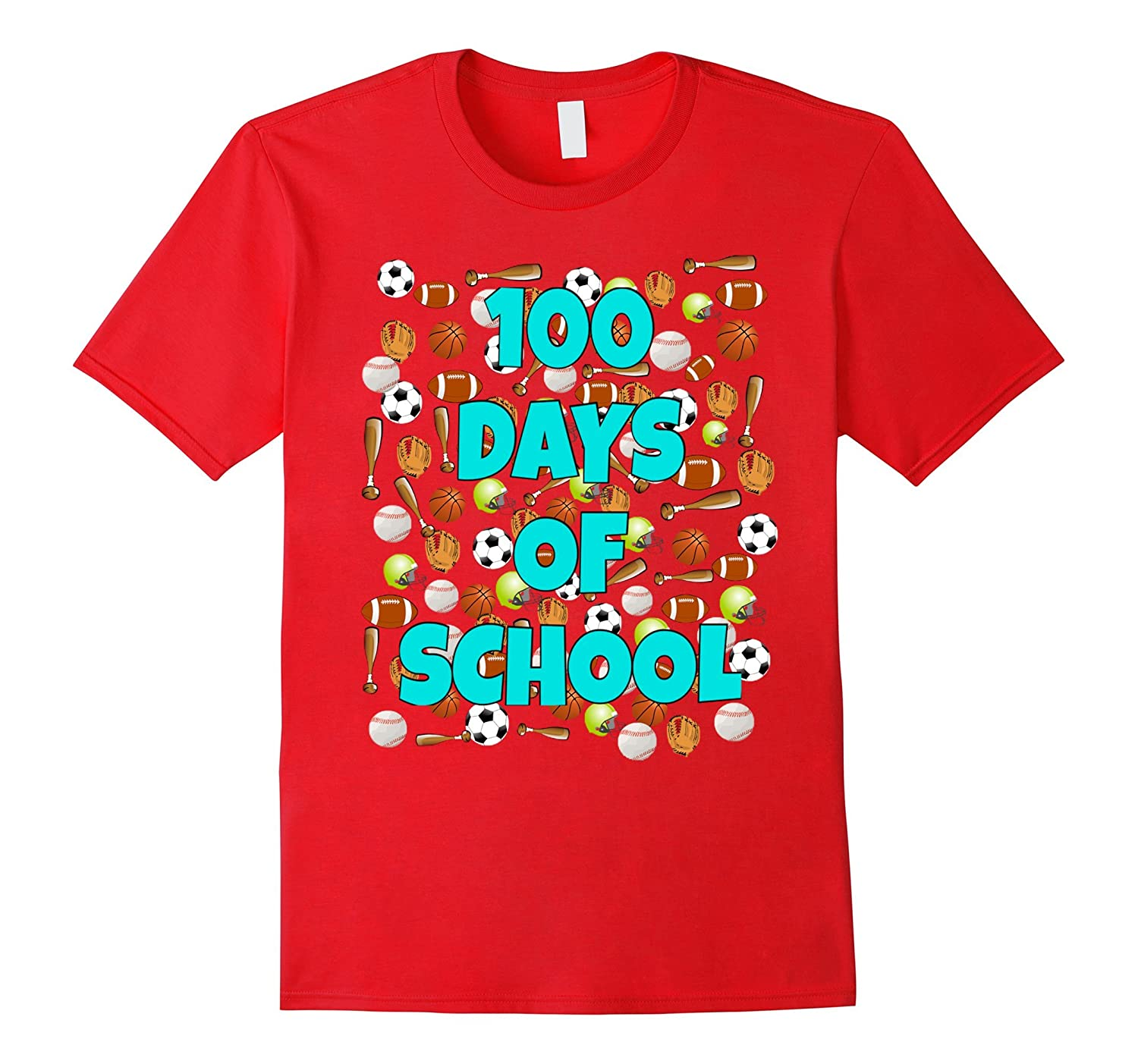 100 Days of School T Shirt for kids or teachers - Sports-RT