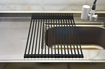 Hyhjh Silicone Over The Sink Dish Rack Silicone Over The Sink Dish Rack  Drain Rack