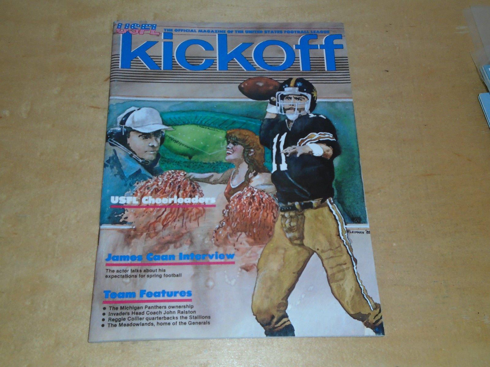 1983 USFL OAKLAND INVADERS AT DENVER GOLD FOOTBALL PROGRAM USFL CHEERLEADERS