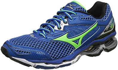 bf86ed73a480 Mizuno Men's R6A1B2 Wave Creation 18 Green/Black Running Shoes-6 UK/India