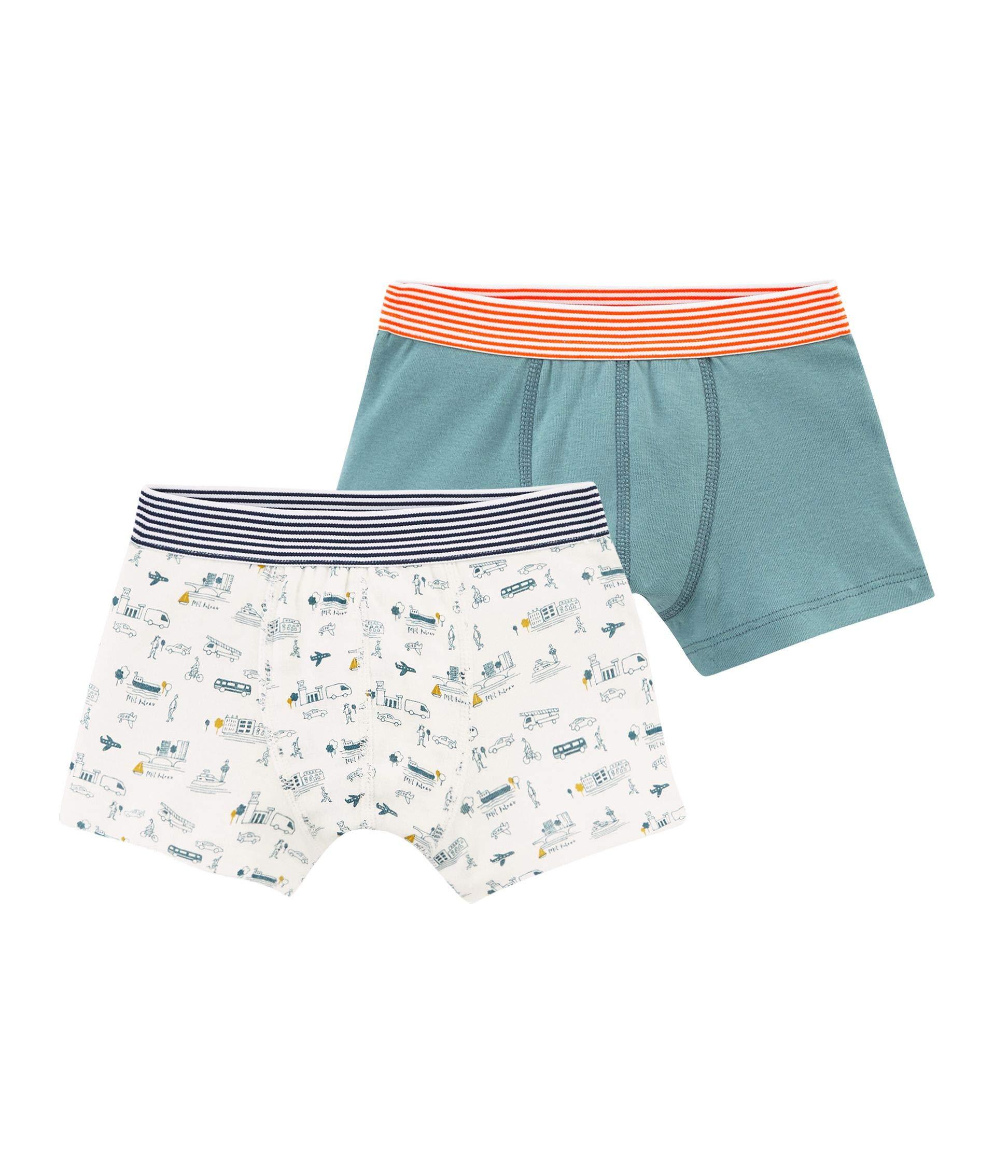 Petit Bateau Boy's Boxer Shorts - Set of 2 Sizes 2-12 Style 48087 (Size 8 Style 48087 Boys)