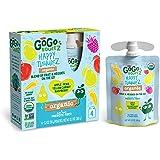 GoGo squeeZ happy tummieZ, Organic Apple Raspberry Pear Yellow Carrot, 3.2 Ounce (24 Pouches), USDA Organic Certified…