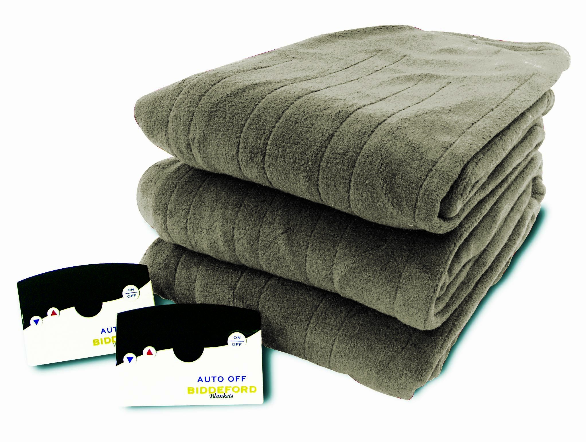 Biddeford 2023-905291-633 Electric Heated Knit MicroPlush Blanket, Queen, Sage