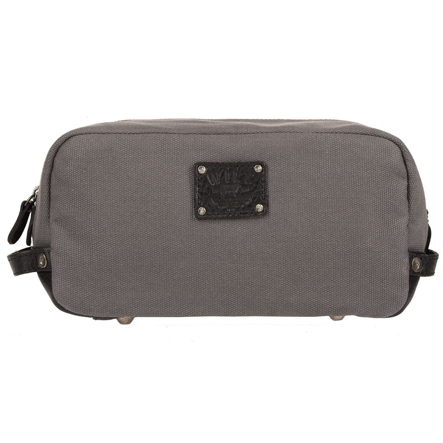 Will Leather Goods Men's Grey and Black Grady Travel Kit