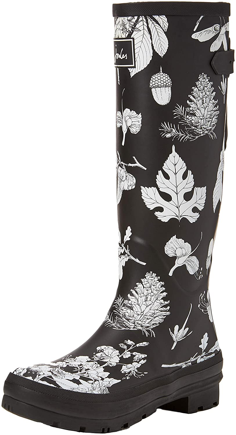 Tom Joule Damen Welly Dogs Print Gummistiefel, French Navy Dogs Welly in Leaves Schwarz (schwarz Etched Botanical Bletbot) 6df95c