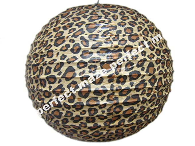 2 Piece 14 Animal Print Leopard Paper Lantern Chinese Round Paper