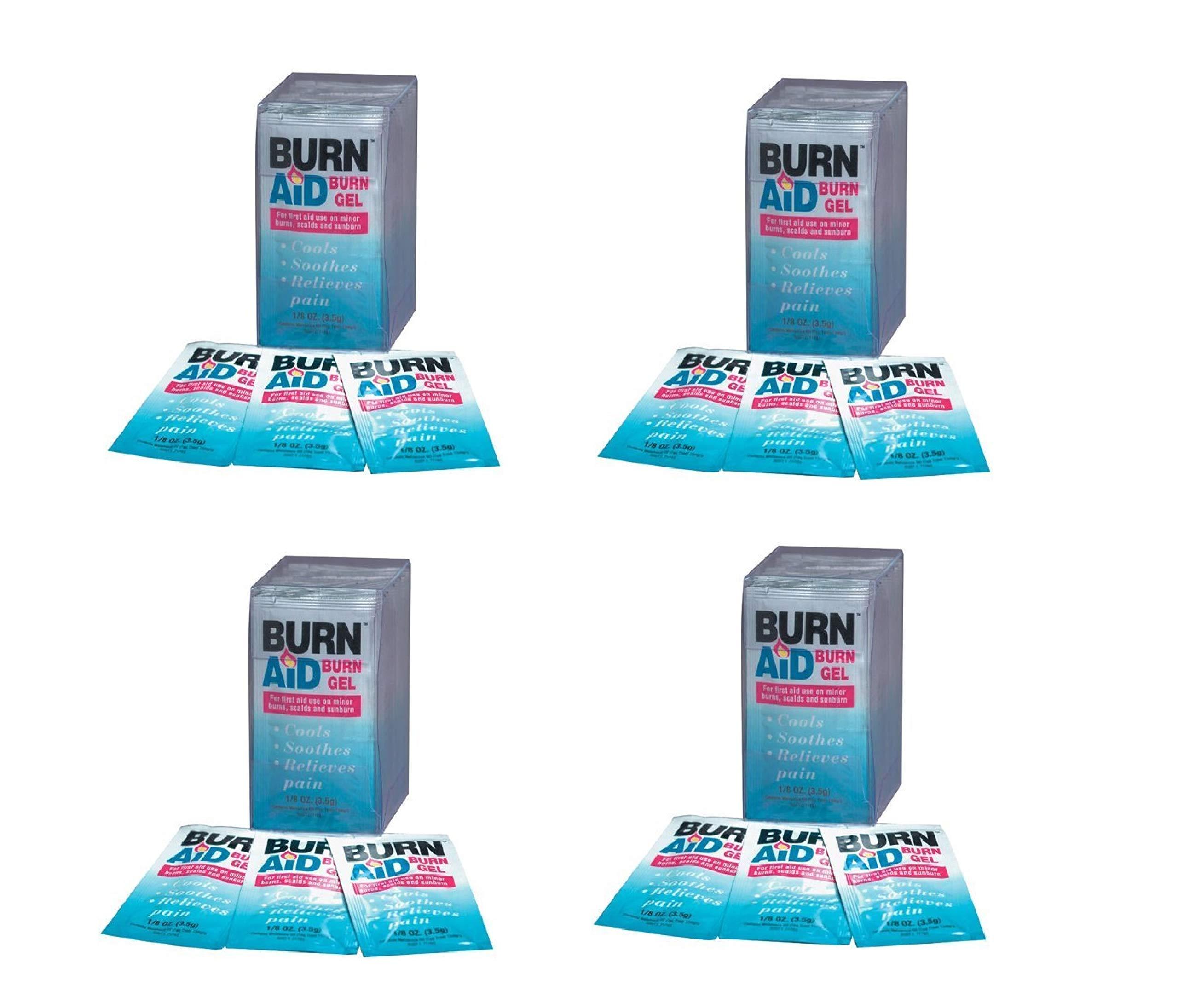 BurnAid 3-1/2-Gram Burnaid Gel Sachets, Pack of 25 (4 Pack)