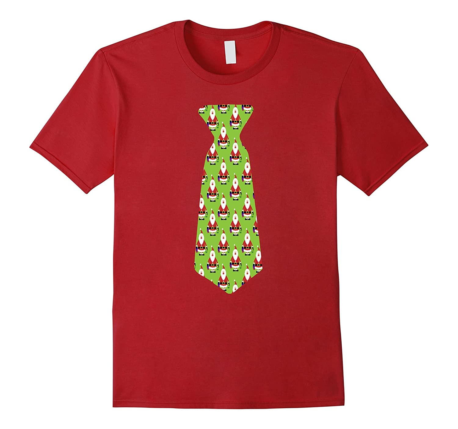 Funny Big Green Santa Claus Tie Shirt Christmas Costume