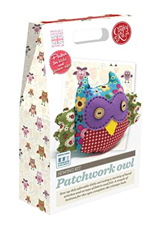 Wonderful Crafty Kit Company Sewing Kit Patchwork Owl: A Completely Self Contained  Kit With Absolutely Everything