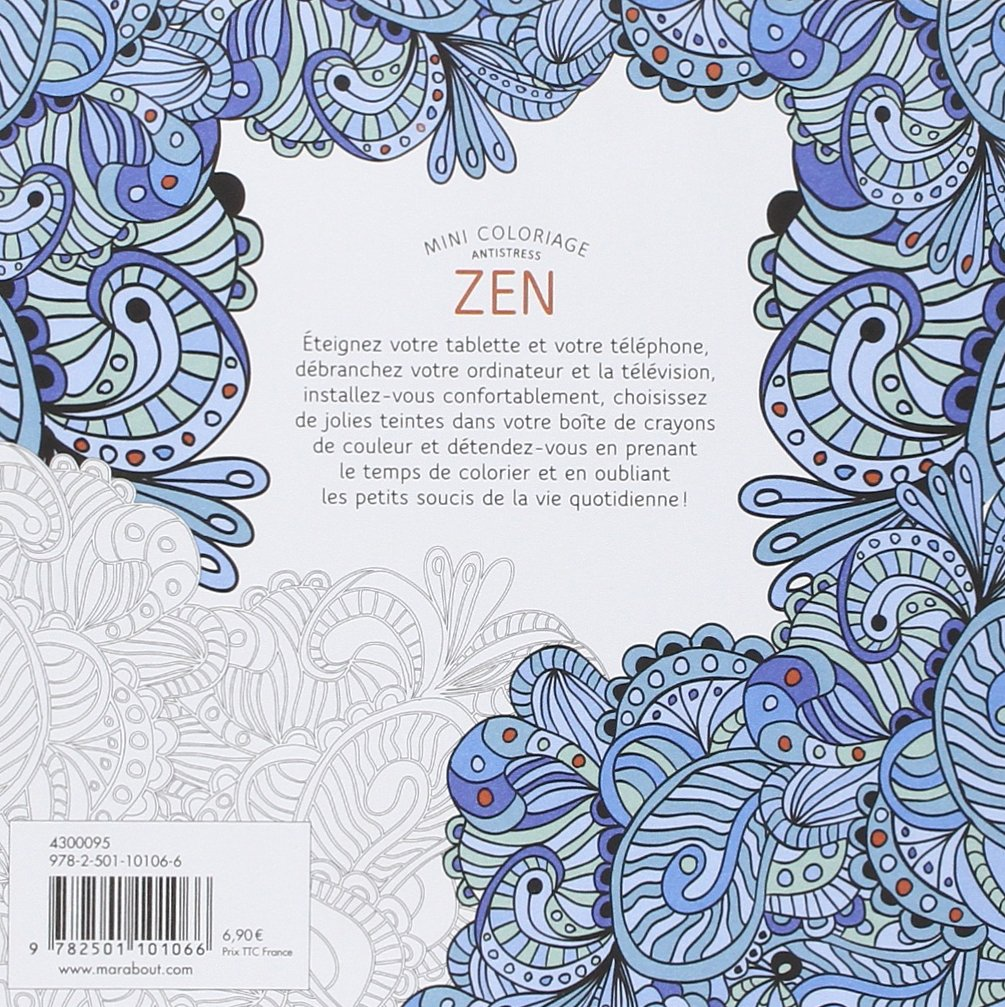 Mini coloriage anti stress zen French Edition Collectif Marabout Amazon Books