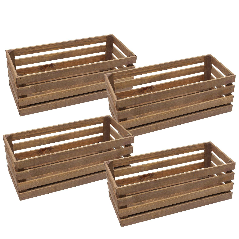 池川木材 カラフルフリーボックス ブラウン L 暮らし良い品 国産土佐桧使用 (ケース販売) 4個入 B07BJVNWDG