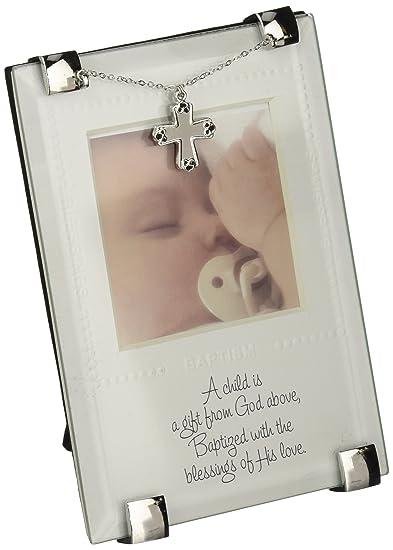 Amazon.com : Mud Pie Baptism Frame, God\'S Gift : Baby Keepsake ...