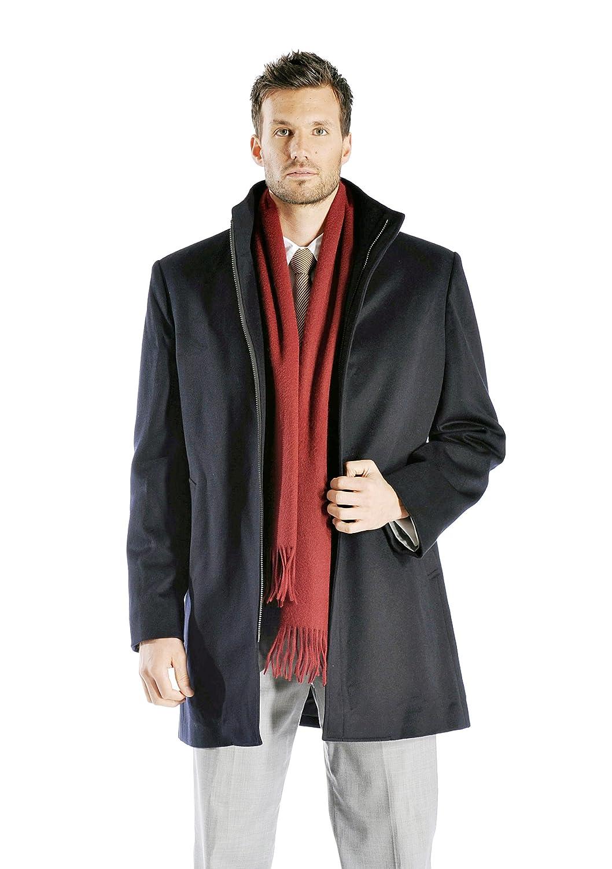 Men's Zip Cashmere Coat with Straight Collar at Amazon Men's ...