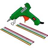 GLUN 20W 20 WATT 7MM HOT MELT Glue Gun (10 Glitter Sticks, NEON Green)