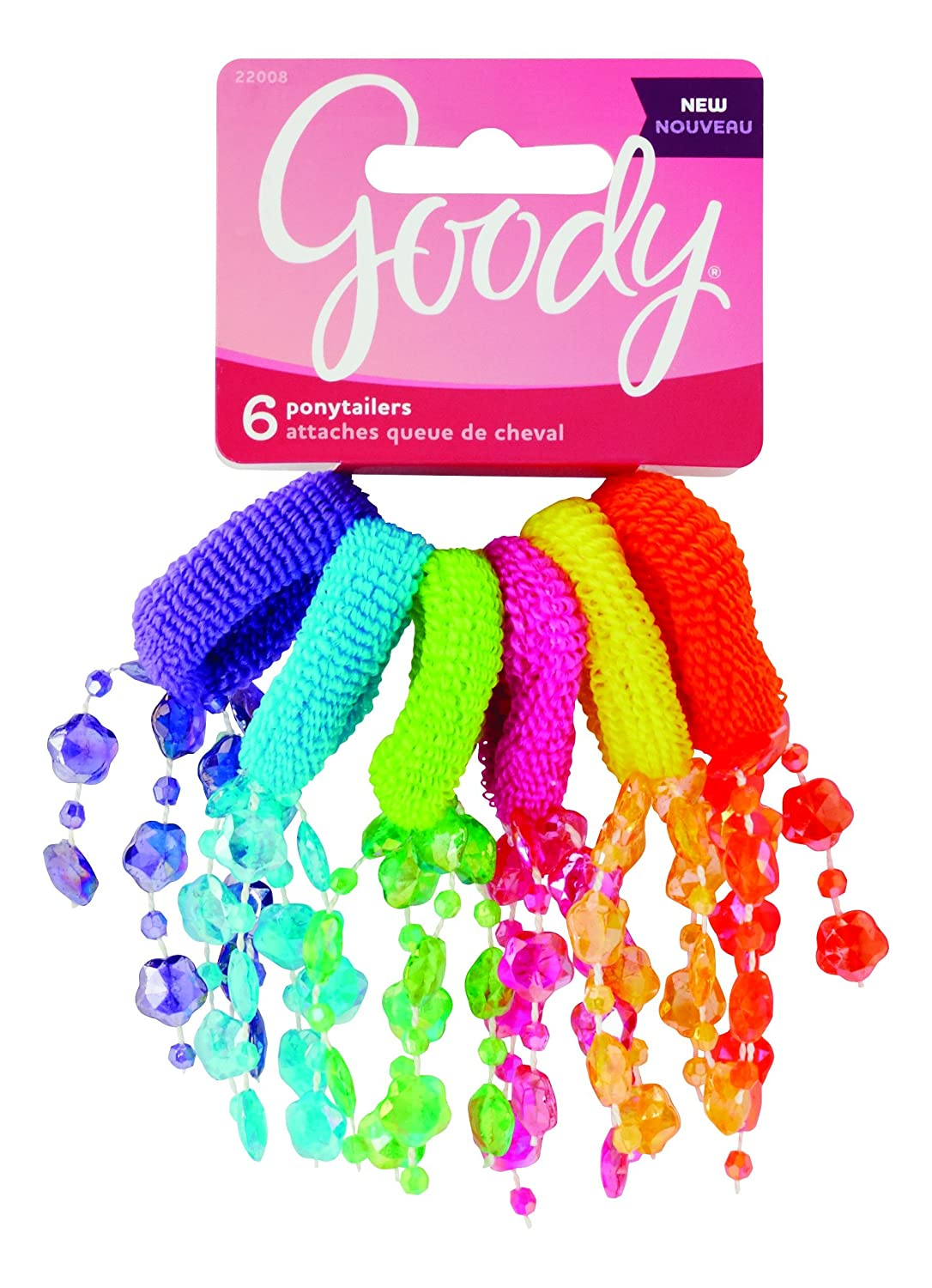6 PCS. GOODY GIRLS TERRY O FLOWER PONYTAILERS 22020