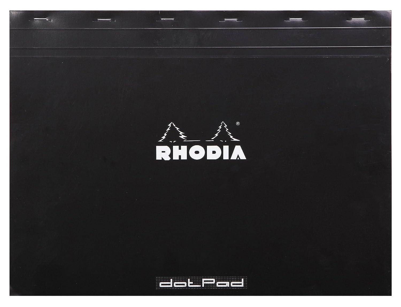 Rhodia - N°38- Bloc Agrafé 80 Feuilles Détachables - Petits carreaux 5x5 - Format A3+ (42 x 31, 8 cm) - Orange C Rhodia 38200C Bloc de bureau Techniques artistiques