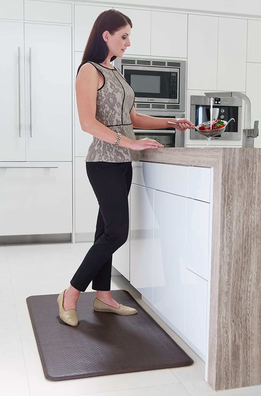amazoncom imprint cumulus9 kitchen mat cobblestone series 20 in x 36 in x 58 in espresso kitchen mats kitchen u0026 dining