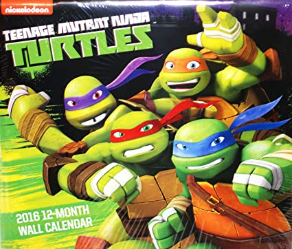 Teenage Mutant Ninja Turtles 2016 12 meses calendario de ...