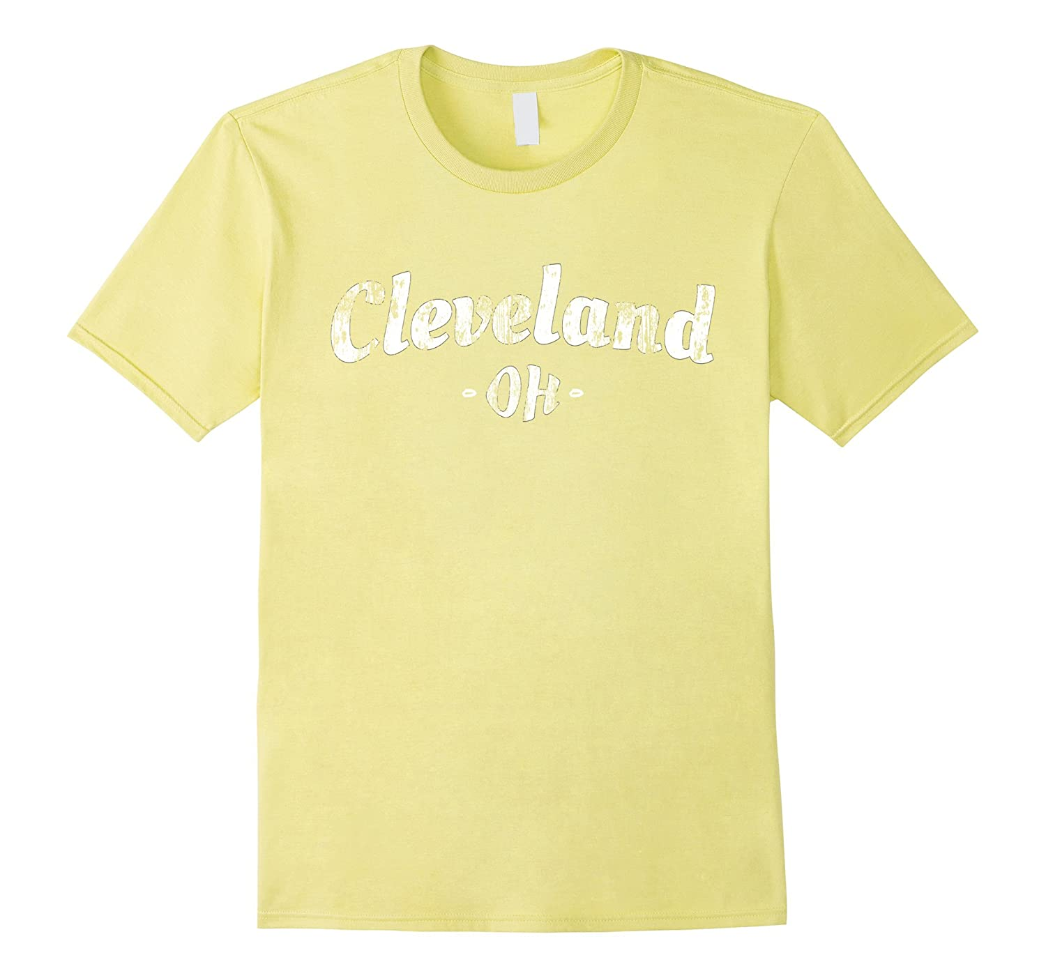 Cleveland T-Shirt Ohio Distressed Retro Style Clothing OH T