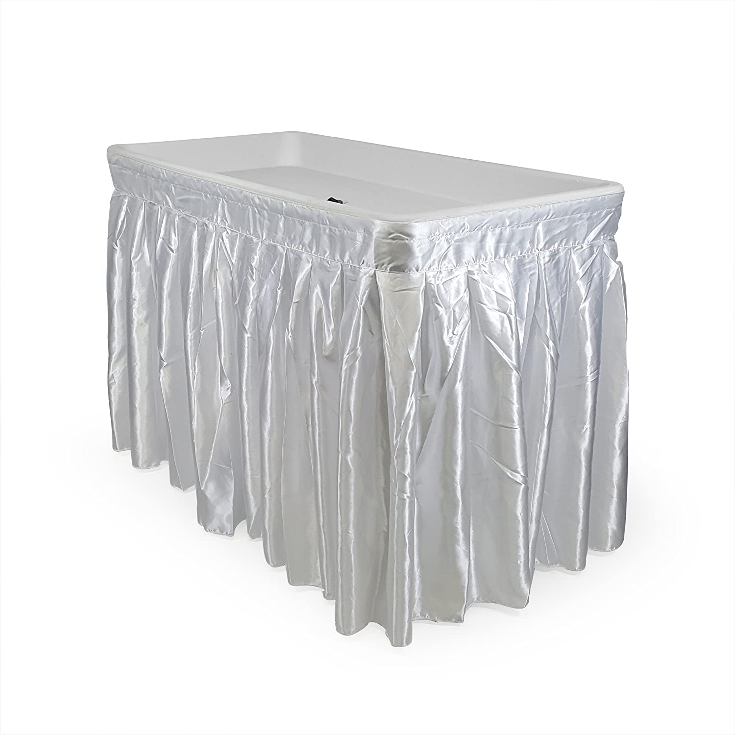 Nice Amazon.com : 4 Foot Cooler Ice Table Party Ice Folding Table With Matching  Skirt   White : Patio, Lawn U0026 Garden