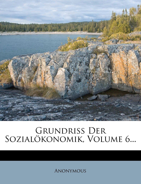 Download Grundriss Der Sozialökonomik, Volume 6... (German Edition) pdf