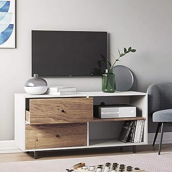 Amazon Com Nathan James 79901 Tora 46 Tv Stand Media Wooden