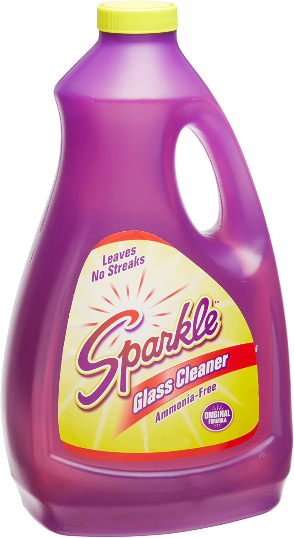 A J Funk & Co 20967 Sparkle Glass Cleaner, Original Purple Formula, 67.6-Ounce Refill Bottle
