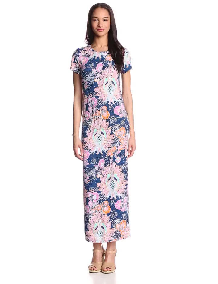 Juicy Couture Women's Summer-Breeze Short-Sleeve Maxi Dress with Belt