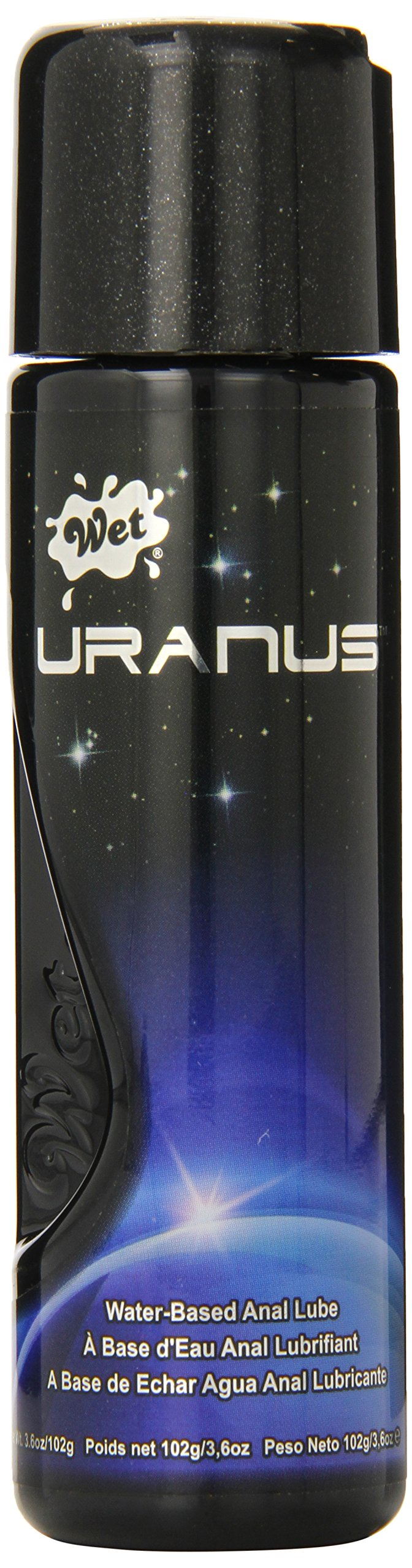 Wet Uranus Anal Personal Lubricant Water Based Lube, 3.6 Ounce