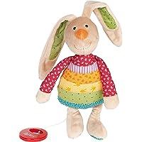 Sigikid 27 x 13 x 8 cm Rainbow Rabbit Musical Bunny (Multi-Colour)