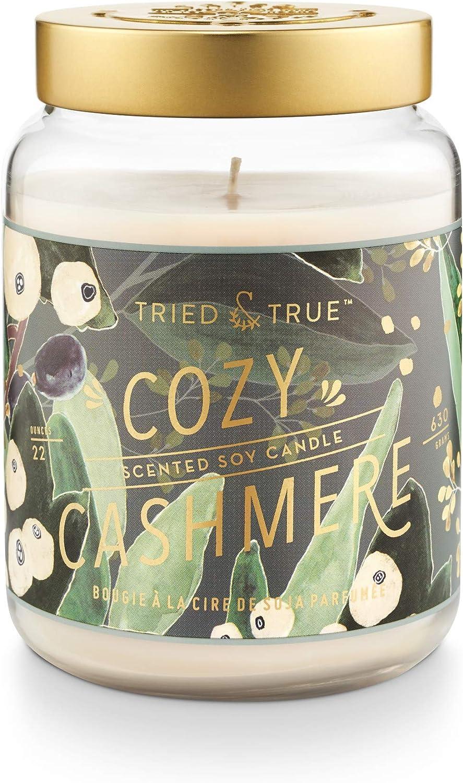 Tried & True Tried and True Cozy Cashmere XLarge Jar, 22.2 oz. Candle, Multi-Color