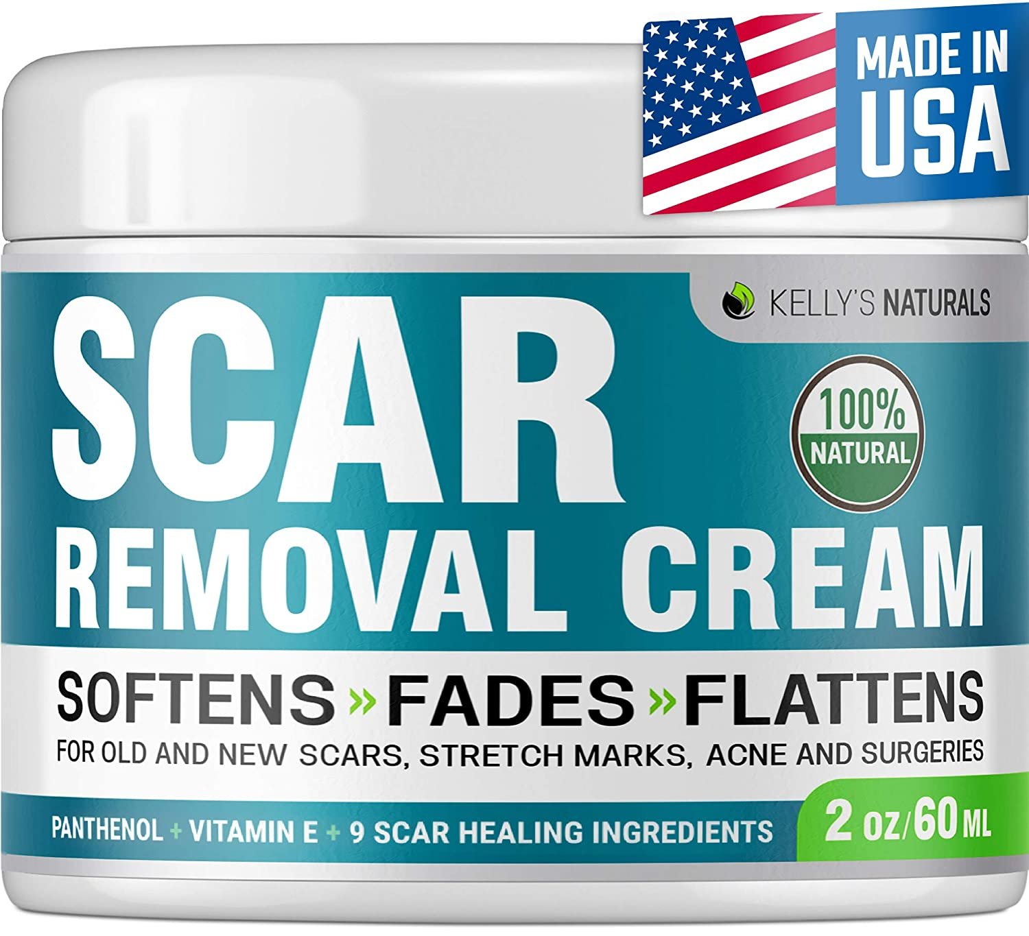 Scar Removal Cream - Effective Stretch Mark Removal - Natural Skin Repair - Acne Scar Remover Cream