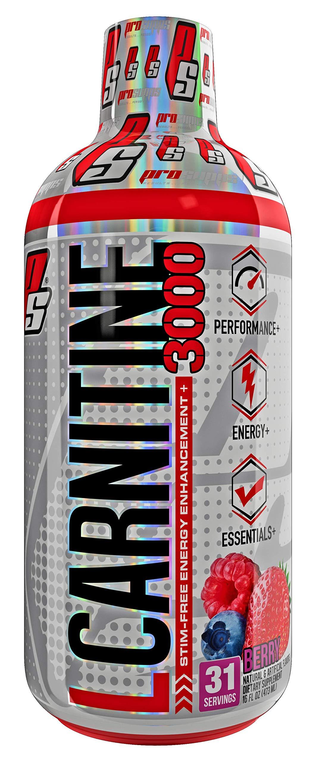 ProSupps L-Carnitine 3000 Liquid Fat Burner, Stimulant Free Metabolic Enhancer, 31 Servings (Berry Flavor)