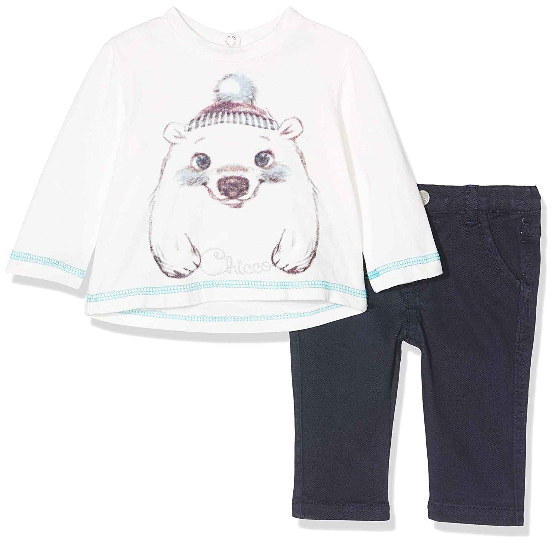 Chicco Completo T-Shirt con Pantaloni Lunghi Conjunto de Ropa para Beb/és