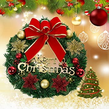 christmas wreath garland outdoor christmas wreath artificial hanging christmas decorations christmas party supplies