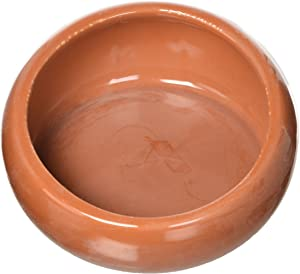 Living World Ergonomic Food Dish, for Small Animals, Terracotta, Large, 14.78 oz, 61687A1