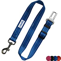 Zenify Dog Car Seat Belt Seatbelt Lead Puppy Harness - Heavy Duty Adjustable Carseat Clip Buckle Leash for Dogs Puppies…