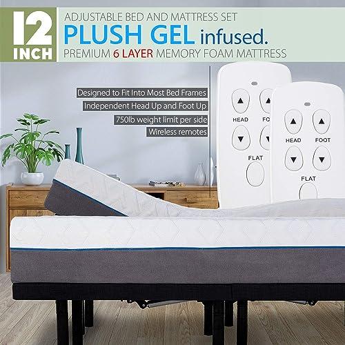 Blissful Nights Split King Adjustable Bed Frame