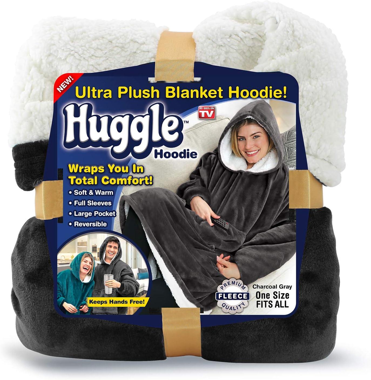 Ontel Huggle Hoodie, Charcoal Grey, One size
