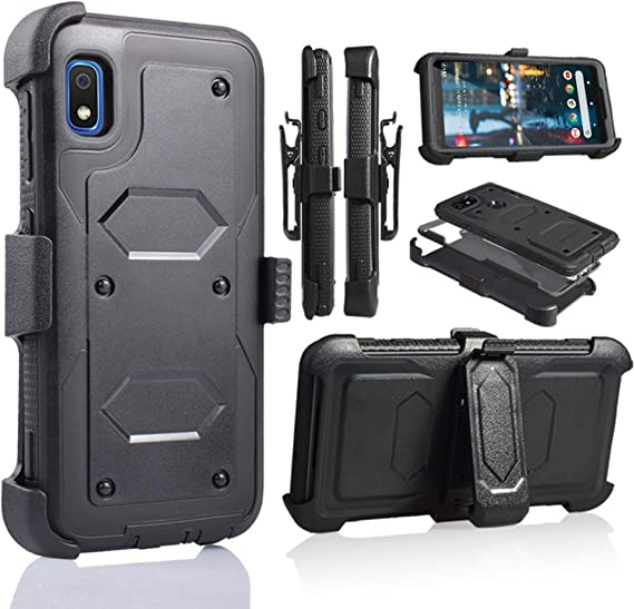 SUPCASE Unicorn Beetle Pro Series Designed for Samsung Galaxy A10e Case Full-Body Rugged Holster /& Kickstand Case with Built-in Screen Protector Black 2019 Release