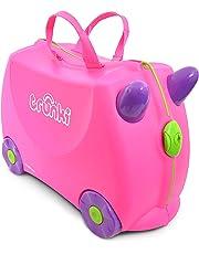 Trunki Valise Enfant à Roulette à Chevaucher et Bagage Cabine - Classique: Trixie (Rose)